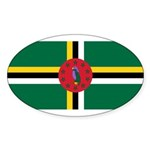 Dominica Sticker (Oval 50 pk)