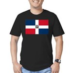 Dominican Republic Men's Fitted T-Shirt (dark)