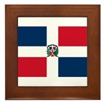 Dominican Republic Framed Tile