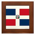 Dominican Republic Framed Tile