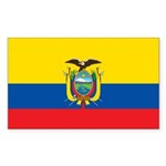 Ecuador Sticker (Rectangle 10 pk)