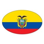 Ecuador Sticker (Oval 10 pk)