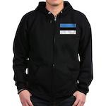 Estonia Zip Hoodie (dark)