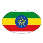 Ethiopia Sticker (Oval 50 pk)