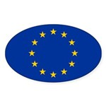 European Union Sticker (Oval 10 pk)