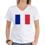 France Women's V-Neck T-Shirt