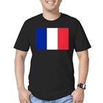 France Men's Fitted T-Shirt (dark)