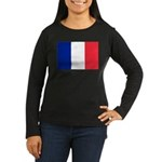 France Women's Long Sleeve Dark T-Shirt