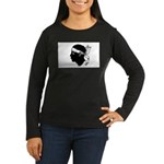 Corsica Women's Long Sleeve Dark T-Shirt