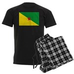 French Guiana Men's Dark Pajamas