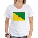 French Guiana Women's V-Neck T-Shirt
