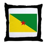 French Guiana Throw Pillow