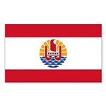 French Polynesia Sticker (Rectangle 10 pk)