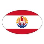 French Polynesia Sticker (Oval 10 pk)