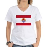 French Polynesia Women's V-Neck T-Shirt