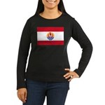 French Polynesia Women's Long Sleeve Dark T-Shirt