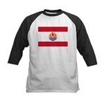 French Polynesia Kids Baseball Jersey