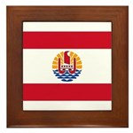 French Polynesia Framed Tile