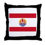 French Polynesia Throw Pillow
