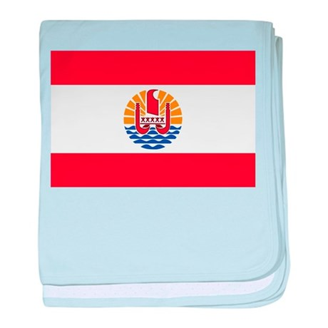French Polynesia baby blanket