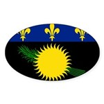Guadeloupe Sticker (Oval 50 pk)