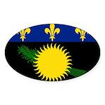 Guadeloupe Sticker (Oval 10 pk)
