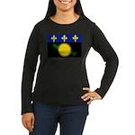 Guadeloupe Women's Long Sleeve Dark T-Shirt