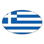 Greece Sticker (Oval 10 pk)
