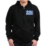 Greece Zip Hoodie (dark)