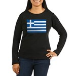 Greece Women's Long Sleeve Dark T-Shirt