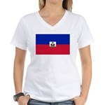 Haiti Women's V-Neck T-Shirt