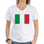 Italy Women's V-Neck T-Shirt