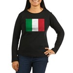 Italy Women's Long Sleeve Dark T-Shirt