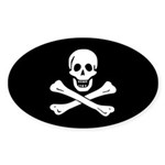 Jolly Roger Sticker (Oval 50 pk)