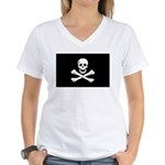 Jolly Roger Women's V-Neck T-Shirt