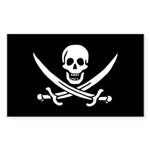 Calico Jack Rackham Jolly Rog Sticker (Rectangle 1