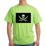 Calico Jack Rackham Jolly Rog Green T-Shirt