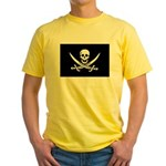 Calico Jack Rackham Jolly Rog Yellow T-Shirt