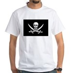 Calico Jack Rackham Jolly Rog White T-Shirt