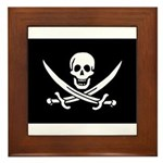 Calico Jack Rackham Jolly Rog Framed Tile