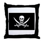 Calico Jack Rackham Jolly Rog Throw Pillow