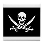 Calico Jack Rackham Jolly Rog Tile Coaster
