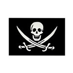 Calico Jack Rackham Jolly Rog Rectangle Magnet (10
