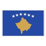 Kosovo Sticker (Rectangle 10 pk)