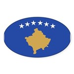 Kosovo Sticker (Oval 50 pk)
