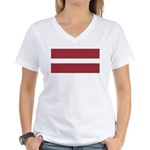 Latvia Women's V-Neck T-Shirt