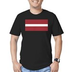 Latvia Men's Fitted T-Shirt (dark)