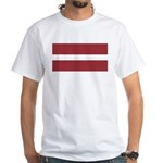 Latvia White T-Shirt