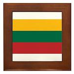 Lithuania Framed Tile