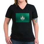 Macau Women's V-Neck Dark T-Shirt